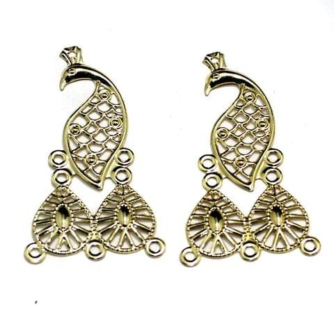 Gold Plated Earring Components, Pack of 10 Pcs