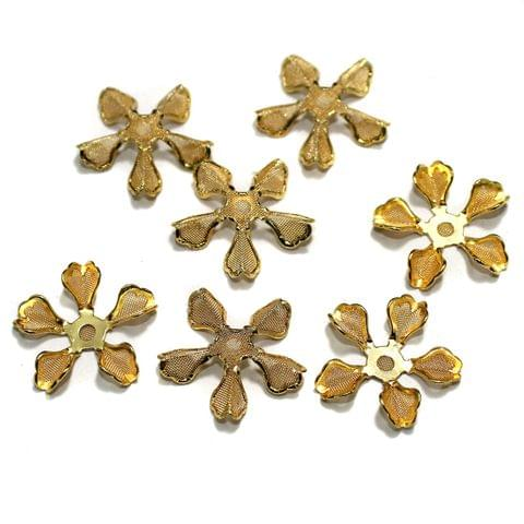 Gold Plated Earring Components, Pack of 25 Pcs