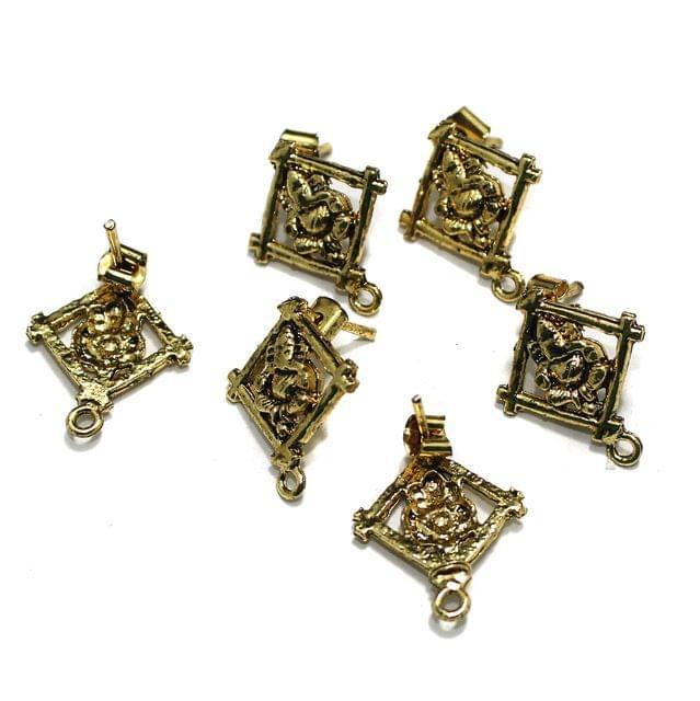 German Silver Earrings Studs, Pack of 10 Pcs