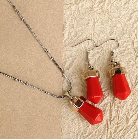 Light Weight Pendant Set Red