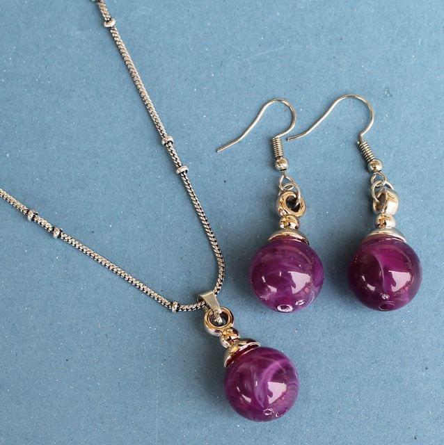 Venus Pendant Set Purple
