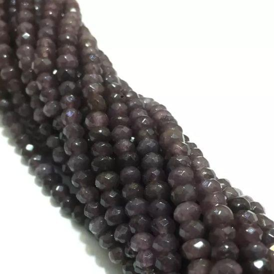 Agate Beads Wine Color Rondelle Faceted Size 4MM, 2 Strings