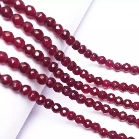 Dark Rubi Agete Beads 4MM, 2 Strings