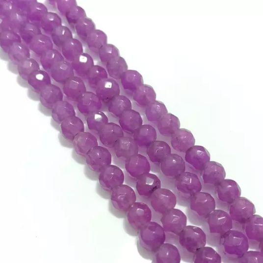 Purple Agete Beads 4MM, 2 Strings