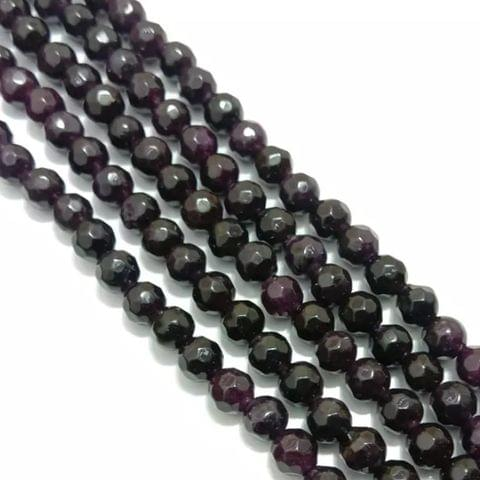Dark Amytist Agete Beads 4MM, 2 Strings