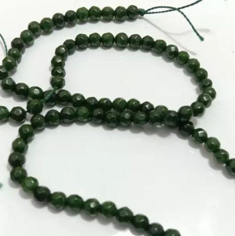 Dark Green Agete Beads 4MM, 2 Strings