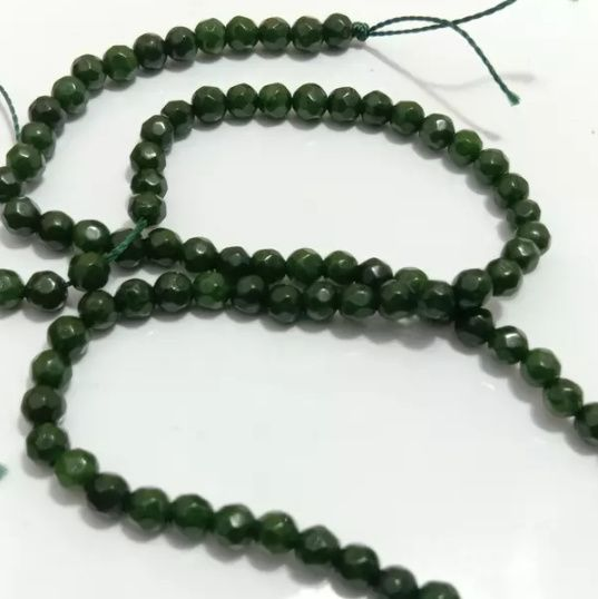 Dark Green Agete Beads 4MM, 2 Strings