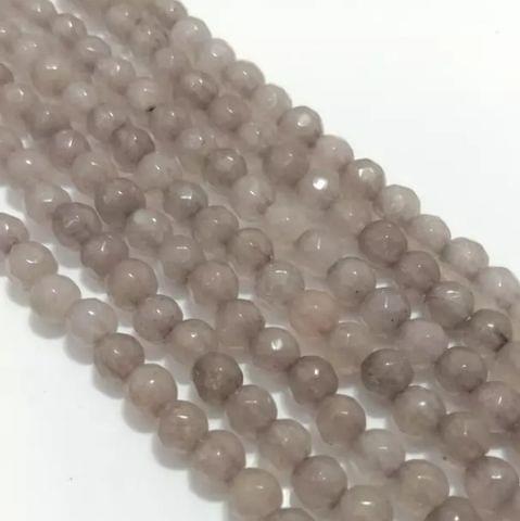 Gray Agete Beads 4MM, 2 Strings