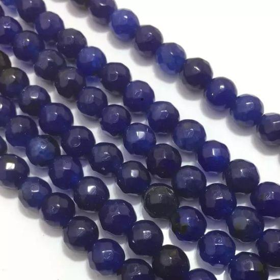 Blue Agete Beads 4MM, 2 Strings