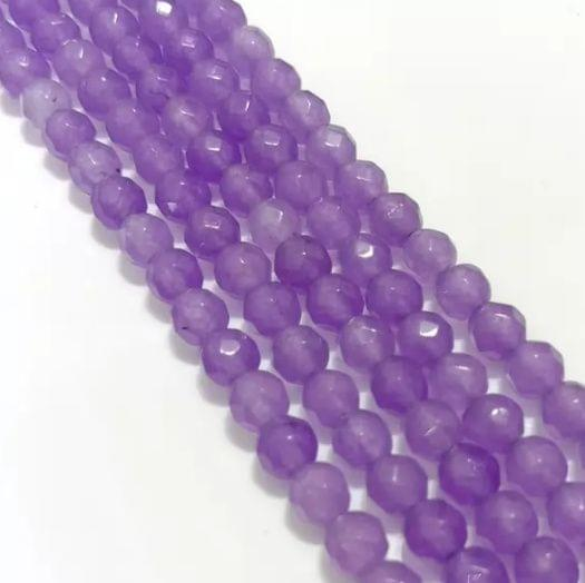 Purple Agate Beads 4MM, 5 Strings