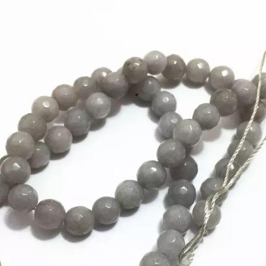 L.Gray Agate Beads 6MM, 5 Strings