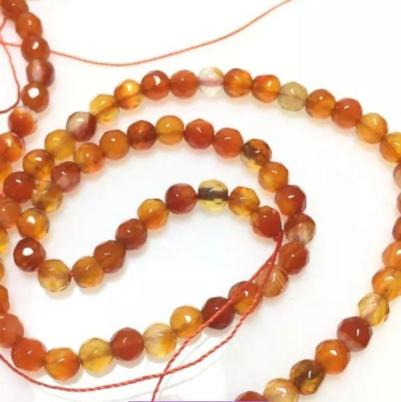 Shaded Purple Color Agate Beads 4mm, 5 Strings