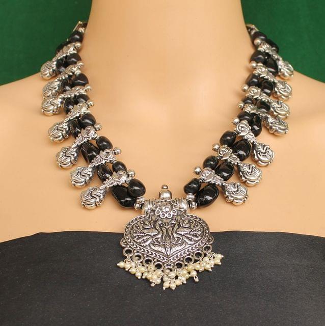 Ethnic Black Oxidised Handmade Necklace