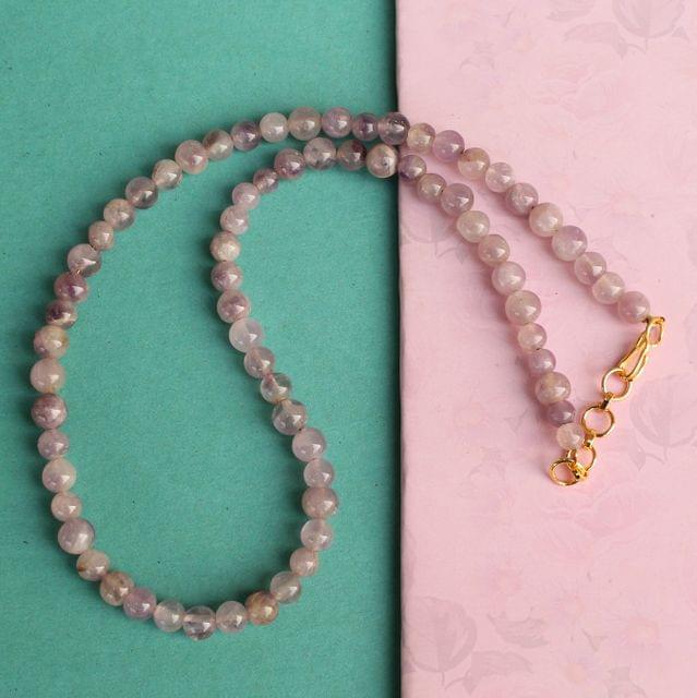 Amethyst Light Gemstone Necklace