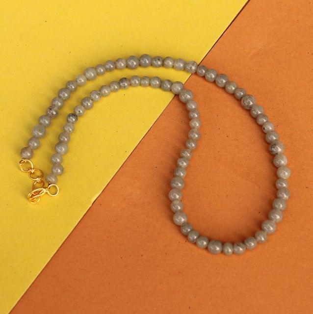 Grey Jasper Gemstone Necklace