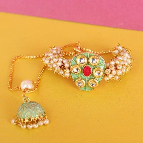 Jasmin Kundan Bracelets Peridot