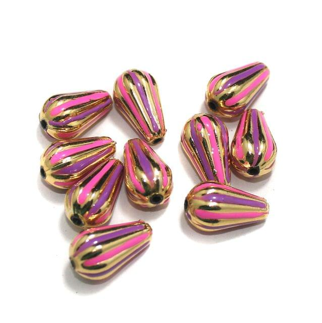 10 Pcs Drop Beads , Size 20x11 mm