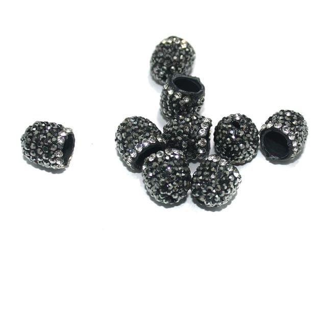 10 Pcs CZ Beads Caps, Size 10 mm