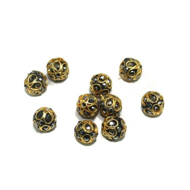 10 Pcs Round CZ Beads, Size 8 mm