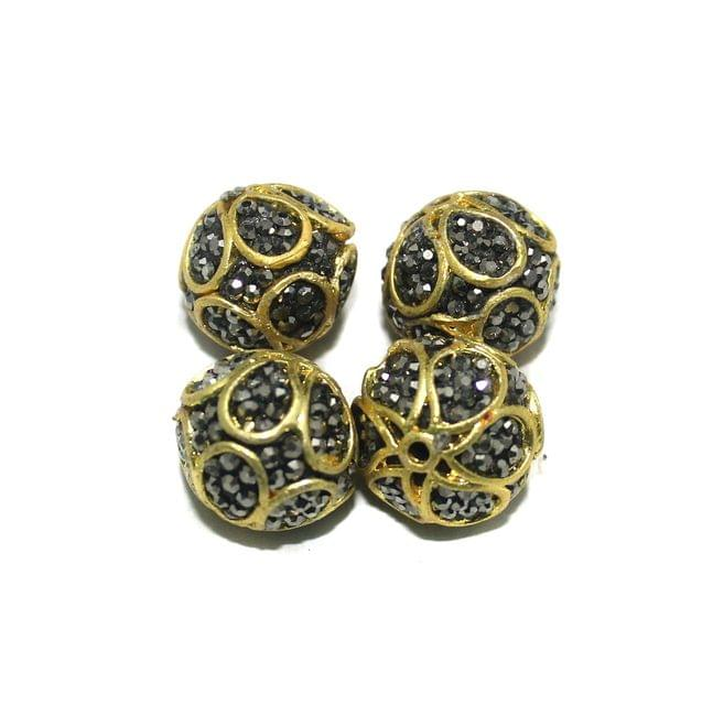 10 Pcs Round CZ Beads, Size 16 mm