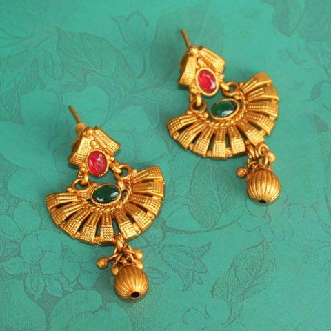 Sanskriti Temple Matte Earring