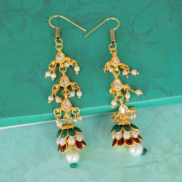 Preet Kundan Pacchi Earrings