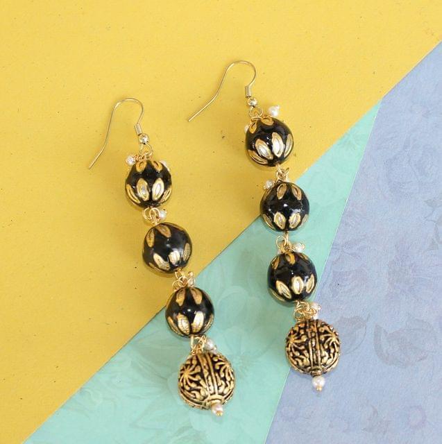 Preet Meenakari Beaded Earrings