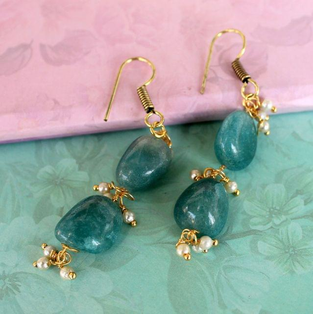 Preet Gemstone Beaded Earrings