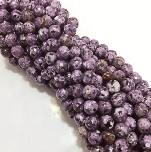 Agate Beads Purple Color Round Faceted Size 8MM, 2 Strings