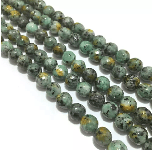 Agate Beads Turquoise Color Round Faceted Size 8MM, 2 Strings