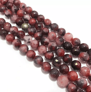 Agate Beads Onion Pink Shaded Color Round Faceted Size 8MM, 2 Strings
