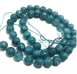 Sky Blue Agate Beads 8MM 2 String