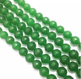 Green Agete Beads 8MM 2 String