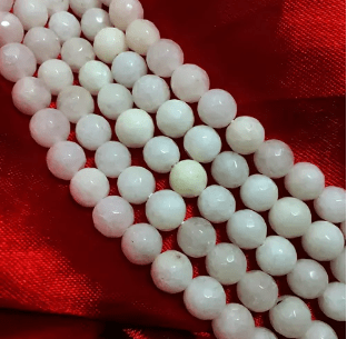 White Agate Beads 8MM 5 String
