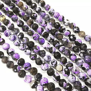 Purple Shaded Agete Beads 8mm 2 String