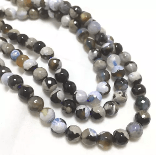 Shaded Agete Beads 8mm 2 String