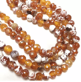 Brown Shaded Agete Beads 8mm 2 String
