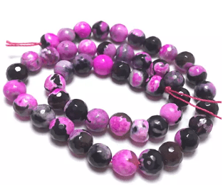 Pink Shaded Agate Beads 8mm 5 String