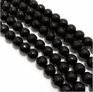 Black Onex Agete Beads 8mm 2 String