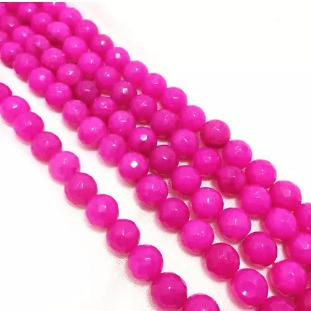 Rani Pink Agete Beads 8mm 2 String