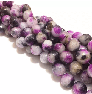 Agate Beads Amethyst Shaded Color Round Faceted Size 12MM, 2 Strings
