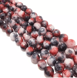 Agate Beads Red Shaded Color Round Faceted Size 12MM, 2 Strings
