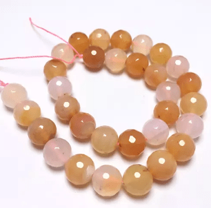 Peach Shaded Agete Beads 12MM 2 String