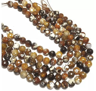 Brown Shaded Agate Beads 12MM 2 String