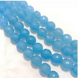 Aqua Blue Agete Beads 12MM 2 String