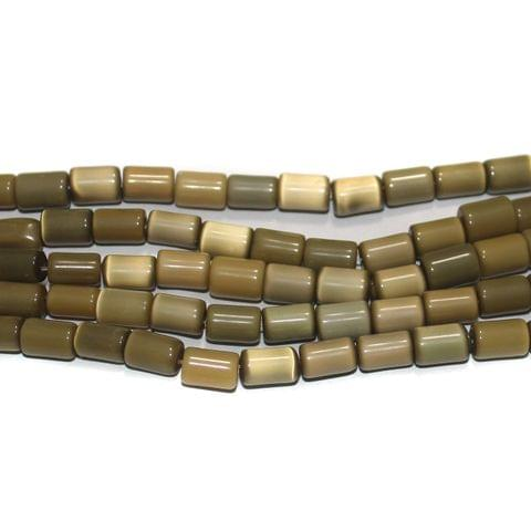 5 Strings Cat's Eye Tyre Beads Light Brown 10x6 mm