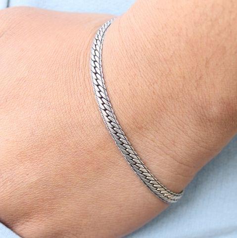 Lakshya Oxidised Silver Bracelet