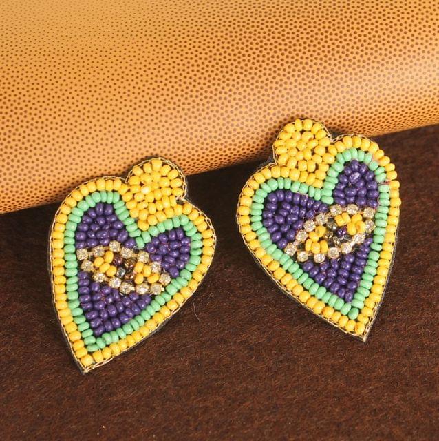 Beaded Heart Earring