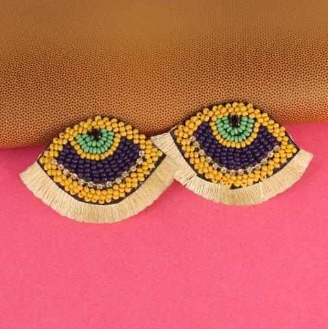 Mustard Eye Earring