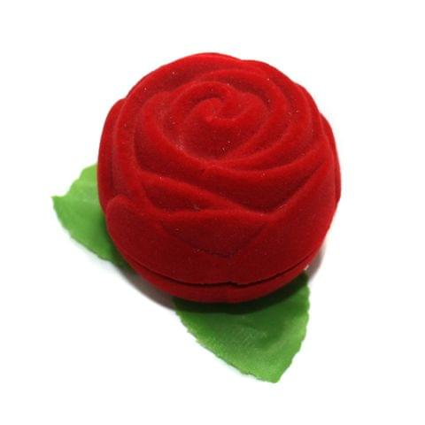 Fancy Finger Ring Box Rose Shape 1 Pc